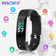 PEACHFIT ID115 Pro Colore Ccreen Intelligente Della Fascia di Yoga Cardio Frequenza Cardiaca Monitor Wristband IP68 Impermeabile F tness Braccialetto Pk Fit bit
