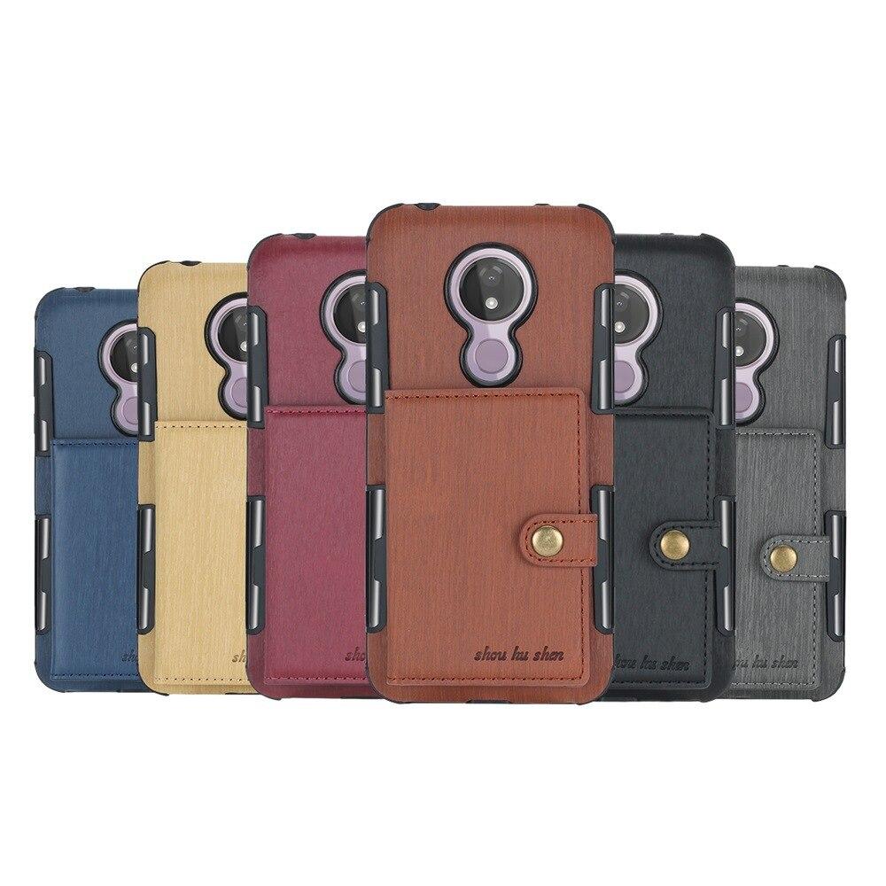 Card Pocket Wallet Case For Motorola Moto E4 G4 G5 G5S Plus E5 TPU+PU Cover For MOTO G7 Power G5 E4 Card Slot Wallet Phone Cover