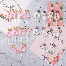 ケーキ番号トッパー誕生日パーティーケーキデコレーション0 1 2 3 4 5 6 7 8 9記念ケーキ番号年齢パーティーの装飾