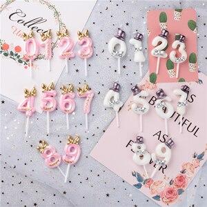 Image 1 - Décoration de gâteau danniversaire avec numéros de gâteau pour anniversaire, décoration de fête pour anniversaire 0 1 2 3 4 5 6 7 8 9 numéros de gâteau pour anniversaire
