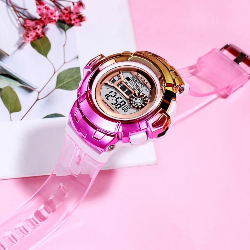 SYNOKE Watch Women Fashion Led Luminous Electronic Alarm Clock Fashion Sport Digital Watch Women Clock Zegarek Reloj Mujer