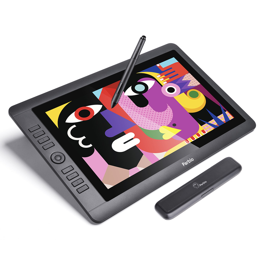 New Arrival Parblo Coast16 15 6 IPS HD Graphic Monitor with Battery free Passive Pen 8192