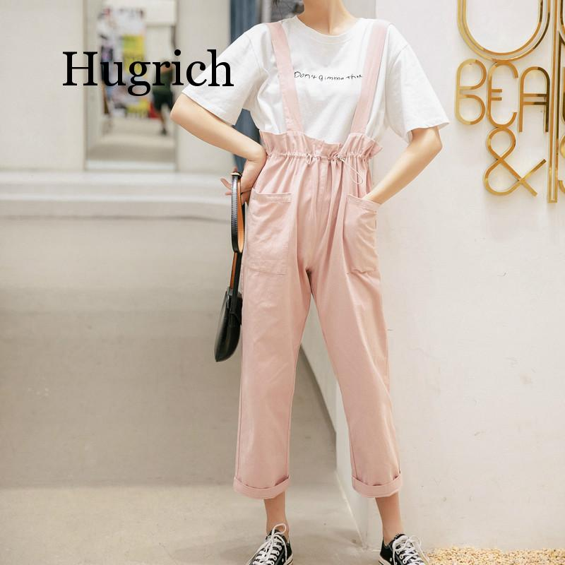 Overalls Female Rompers Lady Women Arrival High Street Women Sleeveless Loose Jeans Jumpsuit Long Pants Rompers