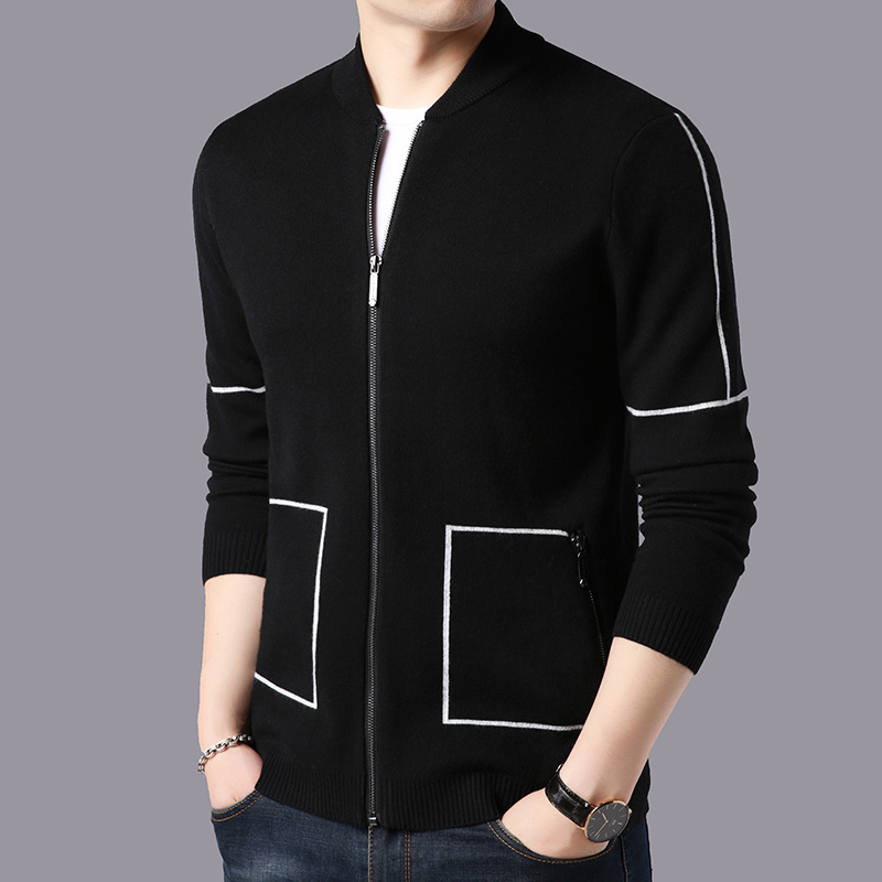 Good Quality 2019 New Men's Knitted Cardigan In Spring And Autumn Korean Version Of Self-improvement Sweater Jacket For Men