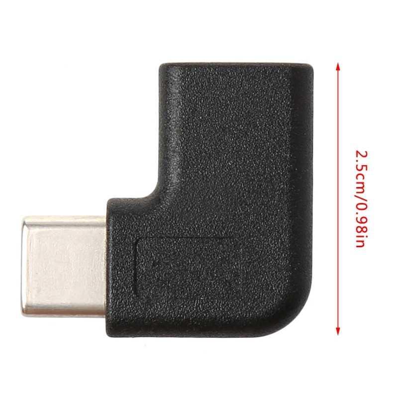 90 درجة الزاوية اليمنى USB 3.1 نوع C ذكر إلى أنثى محول محول USB-C