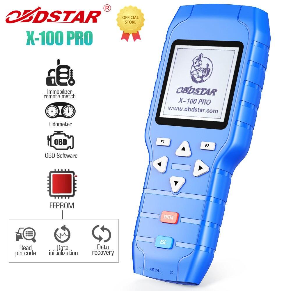 Программатор автомобильных ключей OBDSTAR X100 PRO (C + D + E) с адаптером EEPROM, коррекция Одометра IMMO, бессрочное бесплатное обновление