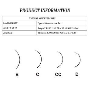 Image 2 - 40PC 7 16mm  handmade natural mink eyelashes individual,extension eyelash,fake false eyelashes 16rows False eyelash