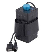 8.4V su geçirmez USB 4x18650 pil saklama kutusu kutu bisiklet için LED akıllı telefon