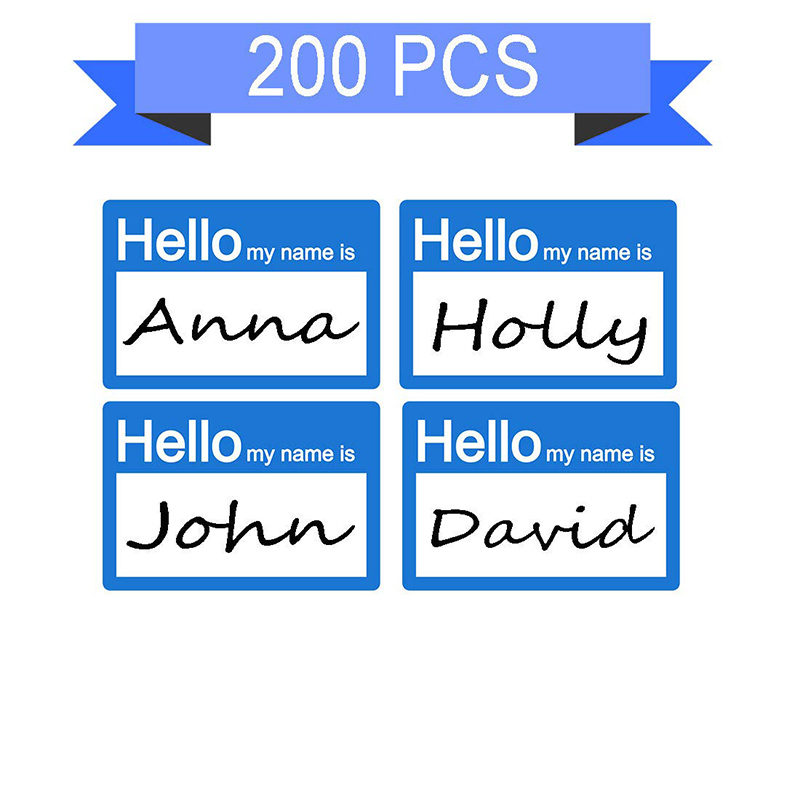 200pcs/package Hello My Name Name Label, Stationery Sticker Stickers Office Supplies Are Very Suitable For Children, Schools