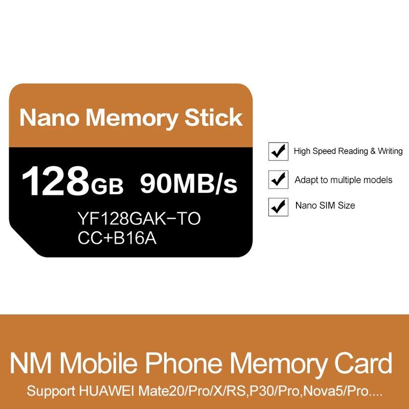 Carte NM lecture 90 mo/s 128 go carte mémoire Nano appliquer pour Mate20 Pro Mate20 X P30 Nova5 Pro avec USB3.1 Type C - 2