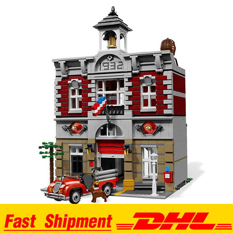 IN Stock DHL 15004 2313Pcs City Street Fire Brigade Model Building Kits Blocks Bricks Compatible <font><b>10197</b></font> Bricks image