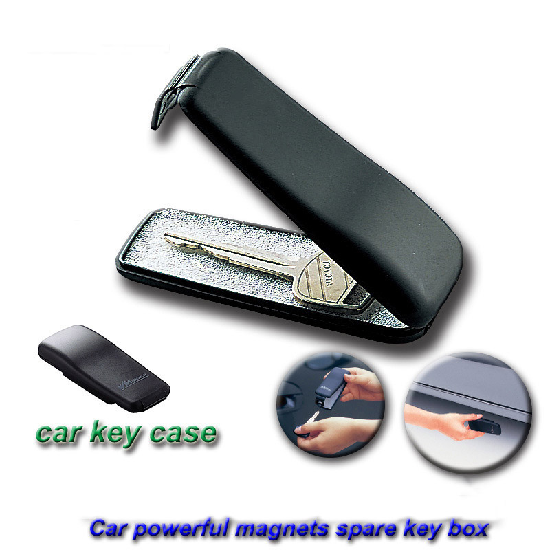 Mini Powerful Magnetic Car Key Holder Box Outdoor Stash Key Safe Box For Car Truck Caravan Hidden Secret Storage Spare Key Box