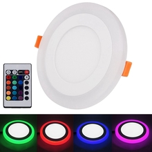 Remote Control Led Celling Lights Double Color RGB LED Panel