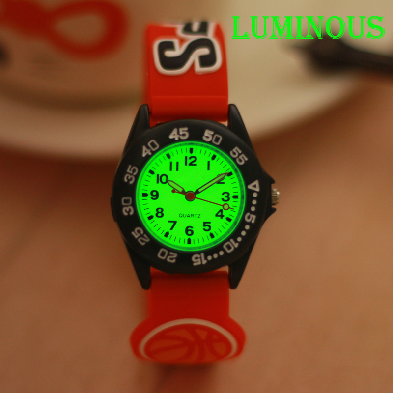 Men Children Boys Cool 3D Cartoon Out Sports Silicone Wristwatch Students Luminous Fashion Watches Personality Waterproof Watch
