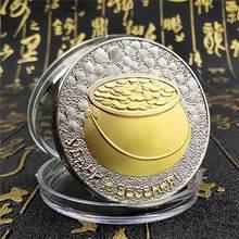 Rússia sorte ouro prata moeda comemorativa boa sorte & felicidade & fortuna bênção medalha patrono dia de são patrício presentes