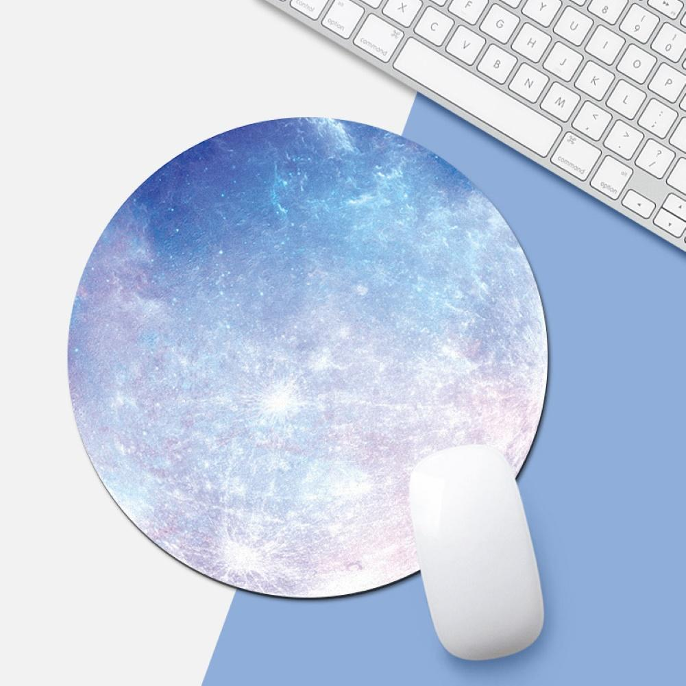 Computer Mouse Padding Rubber Thickening Cartoon Round Animal Penguin Mouse Pad 20CM Light Blue Pink For Laptop Computer
