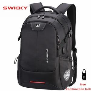 Image 1 - SWICKY mochila multifunción de gran capacidad para hombre, morral masculino de gran capacidad, resistente al agua, con carga usb, para viaje y portátil de 15,6 pulgadas