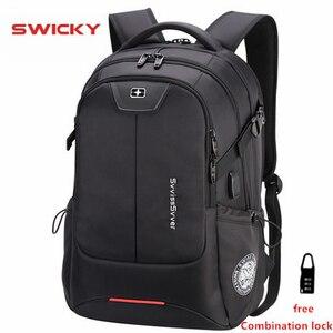 Image 1 - SWICKY multifunction large capacity male bag fashion travel usb charging waterproof anti theft 15.6inch laptop backpack men