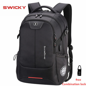 Image 1 - SWICKY multifunzione di grande capacità maschio borsa di corsa di modo usb di ricarica impermeabile anti furto di computer portatile da 15.6 pollici zaino degli uomini