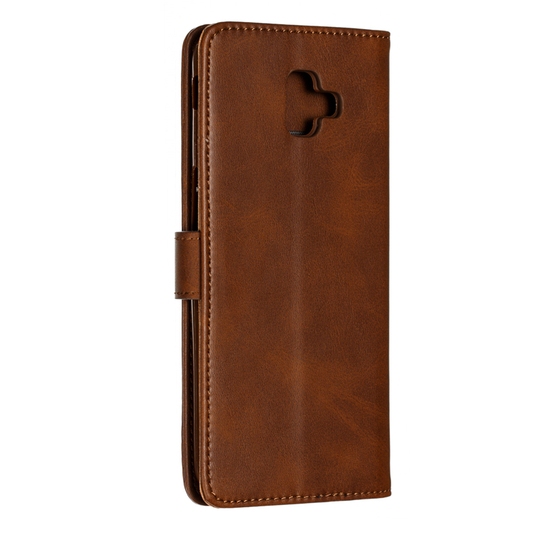 For J6Plus 2018 Phone Accessories Simple Fashion Leather Flip Wallet Case For Samsung Galaxy J6 Plus 2018 Card Cover Protection