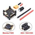 Carte contrôleur de vol Mamba F405 & 2-6s 40A/55A 4 en 1 ESC BLHeli_S support ESC sans balais Oneshot/Multishot/Dshot pour RC