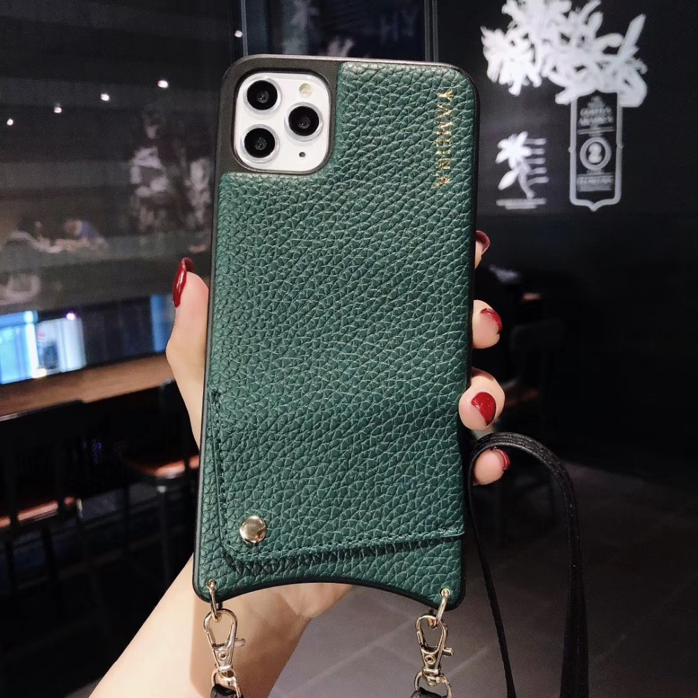 H4bdad0aa41c74bc1a034b8306607ac90a Credit Card Leather Wallet Strap Crossbody Long Chain Phone Case for Iphone 11 pro XR XS Max 6S 8 7 plus luxury Back cover coque