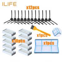 Primäre staub Filter seite pinsel Effiziente Hepa-Filter für ilife v5 v5s V3 V3s v5pro V50 V55 x5 v5s pro roboter staubsauger Teile