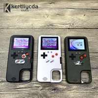Rétro Affichage Polychrome Jeu Téléphone étui pour iPhone 11 Pro Max Xs Max Xr X Jeu de shell pour iPhone 6 7 8 Plus Xr Funda Capa
