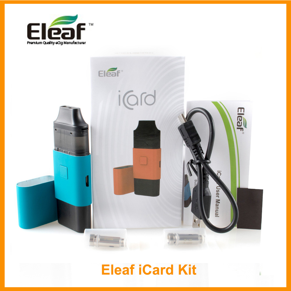RU Original Eleaf iCard kit Built in 650mAh 2ml Cartridge And <font><b>ID</b></font> 1.2ohm <font><b>coil</b></font> Dual-purpose Cover Vs iCare Mini Pod Kit E-Cig image