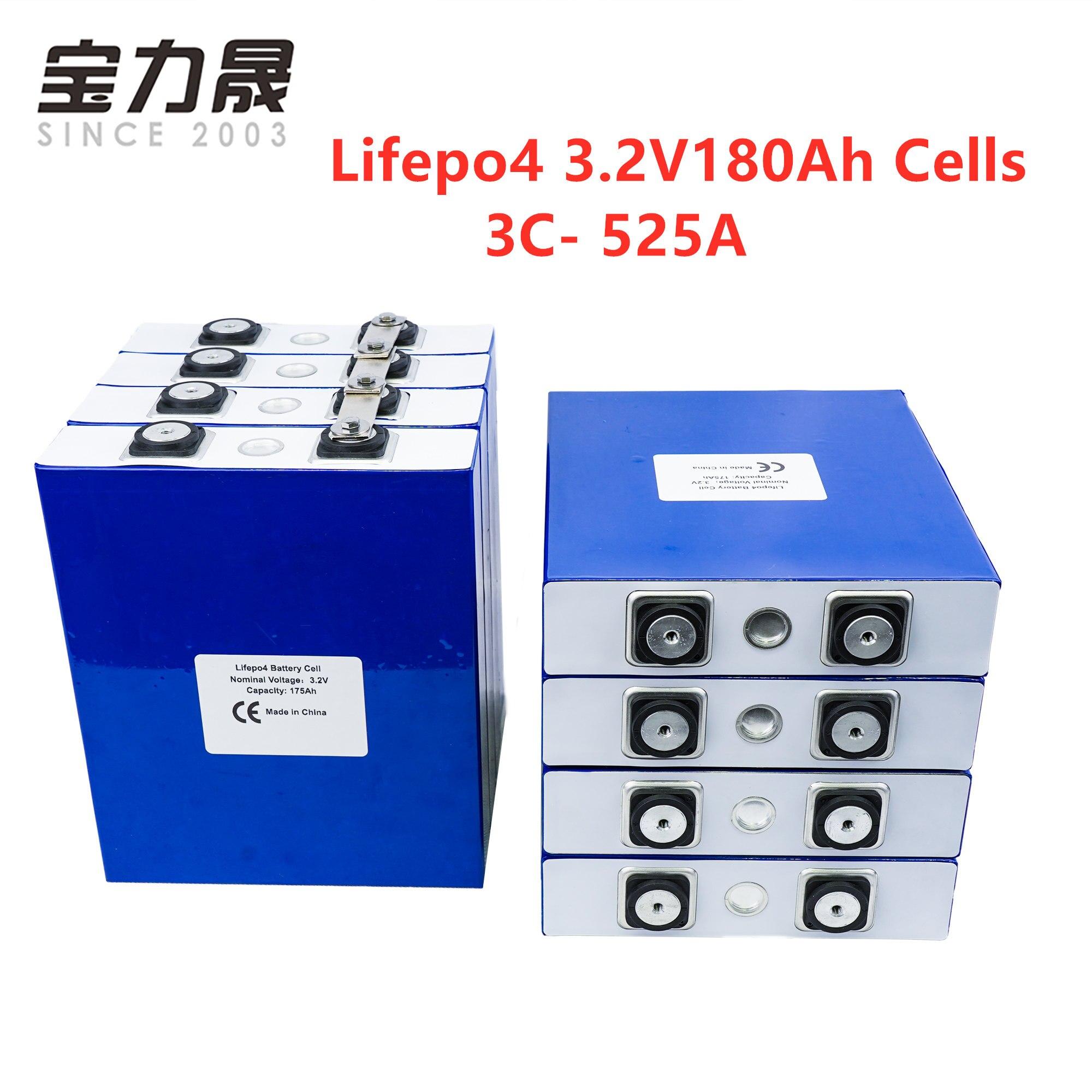 8 pièces 3.2V175Ah lifepo4 batterie Lithium fer Phosphate Cycle cellulaire 200AH 3C 500A solaire 24V 176Ah pas 180Ah ue US sans taxe