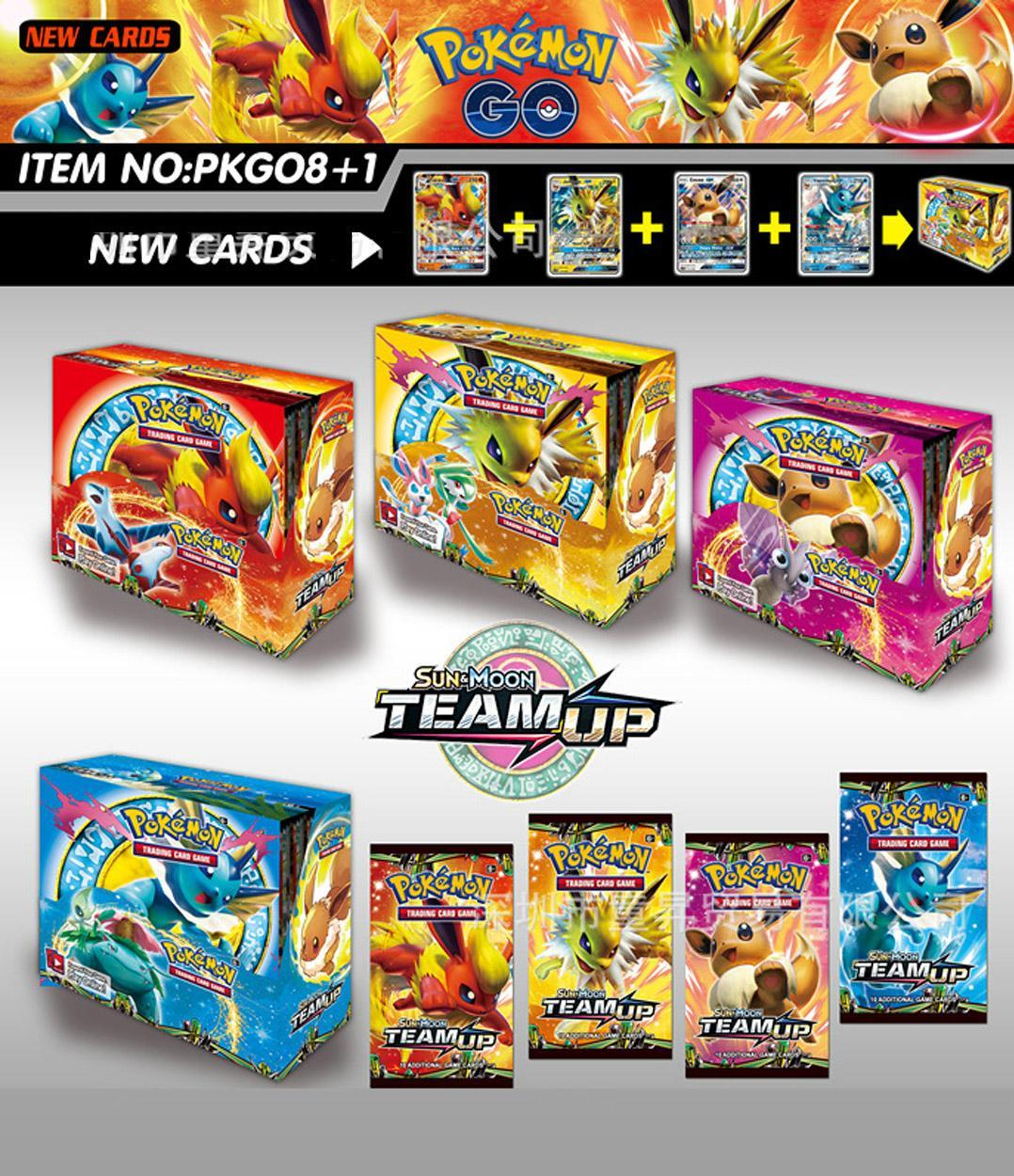 324Pcs Pokemon Card TCG: Sun & Moon Bonds Booster Box Trading Card Game
