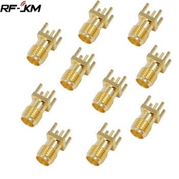 10Pcs SMA Female Jack Adapter Solder Edge PCB Straight Mount RF Copper Connector Plug Socket - sale item Electrical Equipment & Supplies