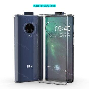 Перейти на Алиэкспресс и купить Чехол для vivo NEX 3S 5g, прозрачный силиконовый бампер из ТПУ, мягкий чехол для vivo NEX 3 5g, прозрачная задняя крышка