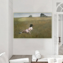 Citon Andrew Wyeth《Christina's World,1948》Canvas Oil Painting Art Poster Picture Wall Decor Background Home indoor Decoration