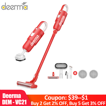Deerma DEM VC21 Cordless Vacuum Cleaner Handheld Stick Aspirator Unique red Version for Home and Car Cleaning Machine