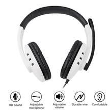 Ps5 com fio fone de ouvido gamer pc 3.5mm para xbox um ps4 pc ps3 ns fones de ouvido surround som jogos overear portátil tablet gamer