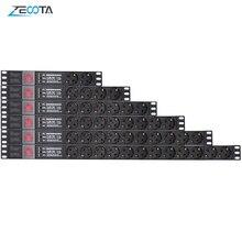 Pdu電源ストリップネットワークキャビネットラック分配ユニットソケットeuプラグコンセント照明サージ保護スイッチ2メートル延長コード
