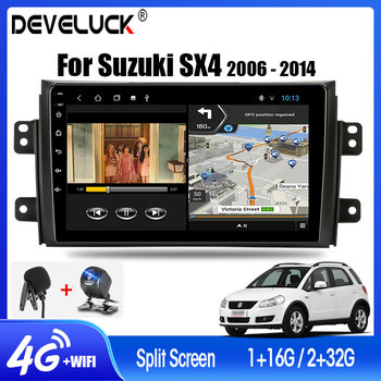 Android 9.0 Car Radio For Suzuki SX4 2006-2014 2din RDS Stereo GPS navigation Multimedia Video Player 4G net 2GB+32GB with Frame hactivol 9 car radio for suzuki sx4 2006 2012 fiat sedici 2006 2010 android 7 0 1 car dvd player with bluetooth 1g ram 16g rom