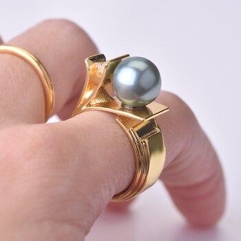 Anillo de oro amarillo sólido de 14 K para mujer, de cuarzo Natural, topacio, GEMA, Bizuteria Bague, oro de 14 k, anillo alianzas de boda, caja de ajuste Pavimentada