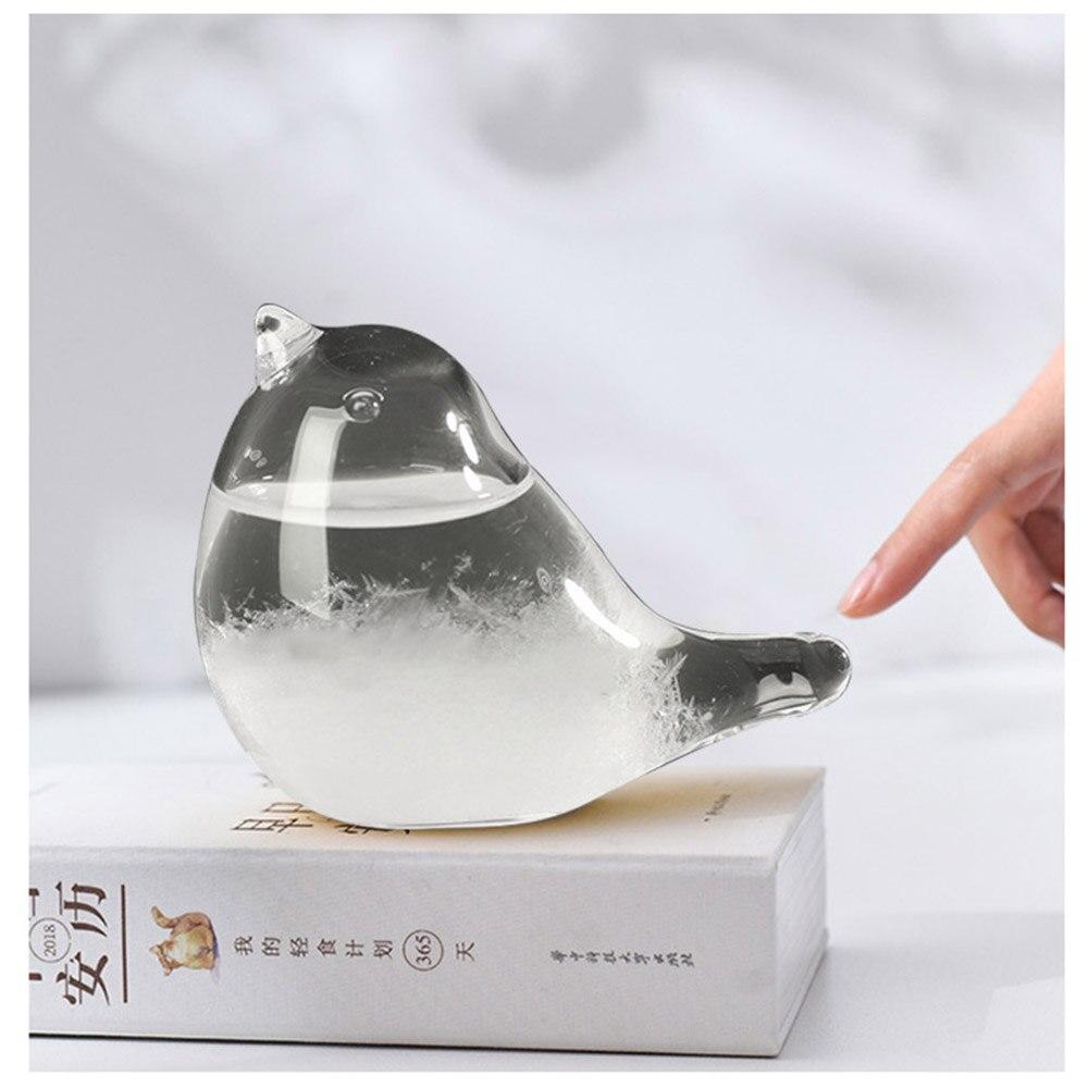 Новинка Хрустальная прозрачная стеклянная бутылка барометр бутылки для прогноза погоды стильная настольная Метеостанция для капель воды