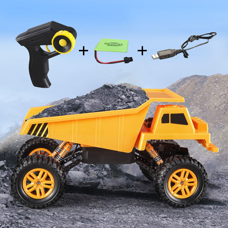 29.5CM 9KM/H 1:18 RC Truck 4WD Remote Control Dumper Simulation Engineering Vehicles Radio Construction Dump Trucks Toys