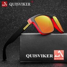 Бренд QUISVIKER, новинка, поляризованные солнцезащитные очки для мужчин и женщин, солнцезащитные очки, мужские квадратные очки, UV400, Ретро стиль, очки для вождения