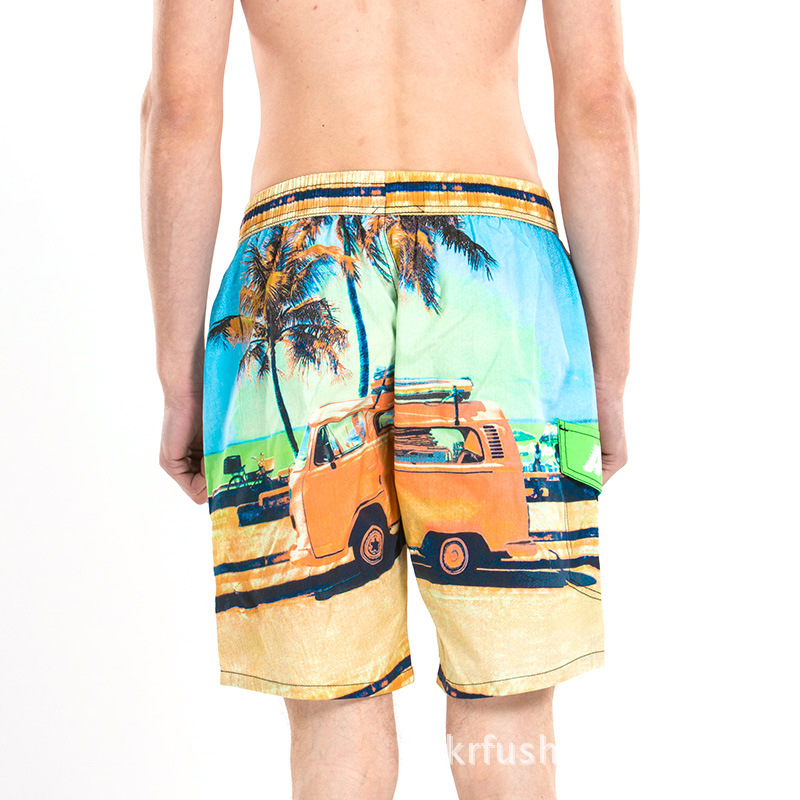 Summer New Style Men Pure Cotton Beach Shorts Short Large Size Casual Large Trunks Europe And America Shorts Men's 1453 #