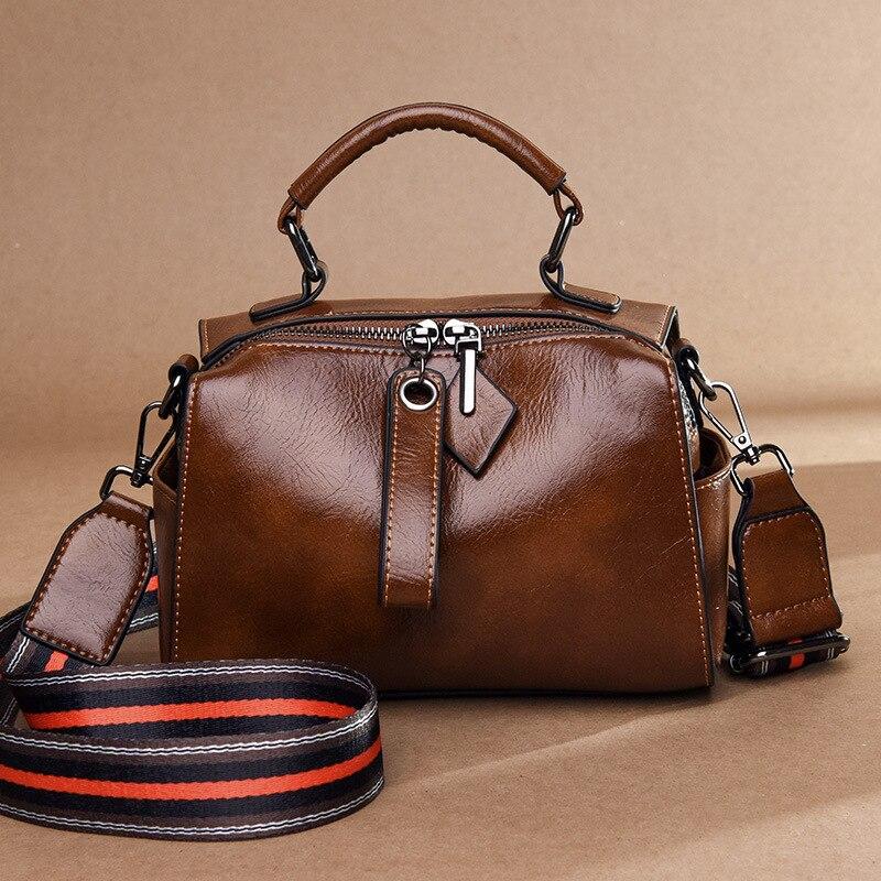 Vintage Designer Lady Tote Bag Women Messenger Bag Boston Shoulder Crossbody Bags For Women Genuine Leather Handbags Bolsas
