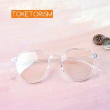 Toketorism transparent women eyeglasses optical frame prescription glasses frames plain glasses