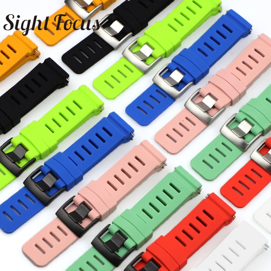 Sight Focus 24MM Curved End Waterproof Silicone Watch Band For Suunto D5 Dive Computer Watch Strap Suunto D5 Watchband  8 Colors