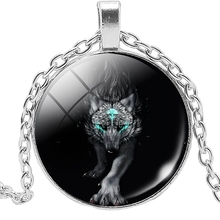 2019 New Siberian Wolf Snow Mountain Howard Necklace Jewelry Pendant Crystal Convex Round Glass Child Gift