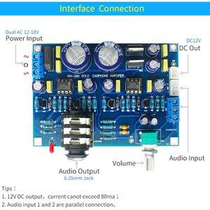 Image 5 - UNISIAN סולו אוזניות מגבר לוח כפול Ne5532 op amp Hifi צליל באיכות אודיו אוזניות מגבר אוזניות