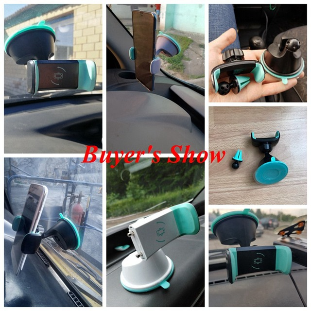FLOVEME Universal Car Phone Holder For Samsung S9 S8 Dashboard Smartphone Navigation Car Holders For Phone In  Car Mount Stand 5