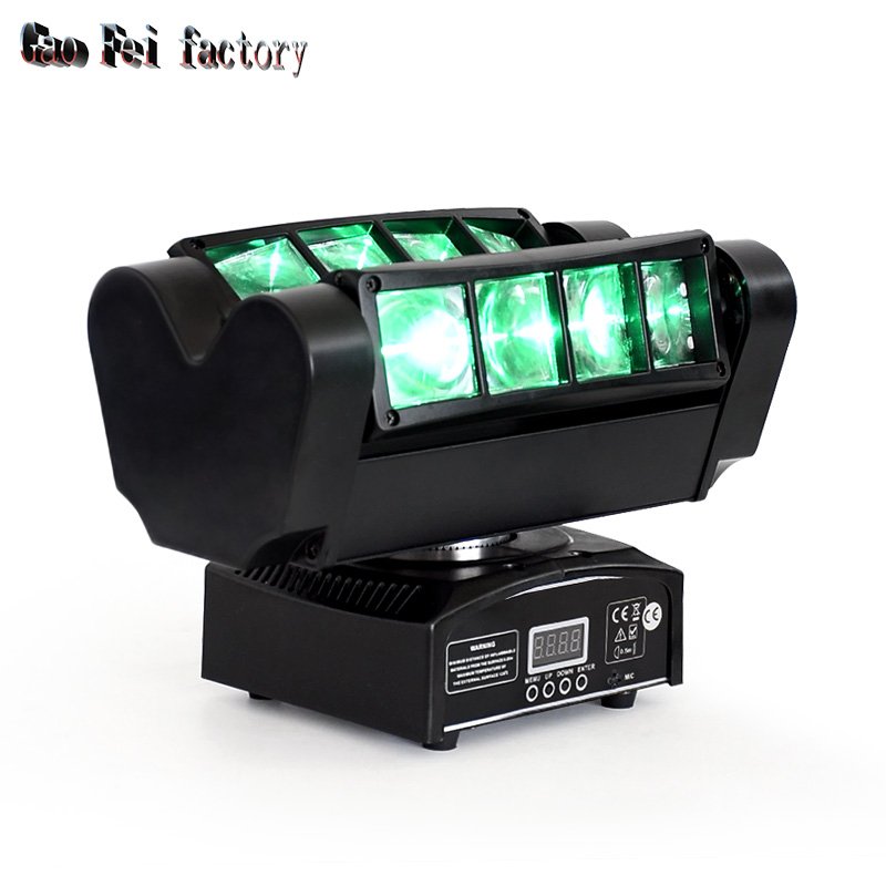 Mini Led Moving Head Spider Light 8x10W Quad RGBW 4in1 Leds Dmx Control Dj Spot Led Lighting Beam Moving Head Light